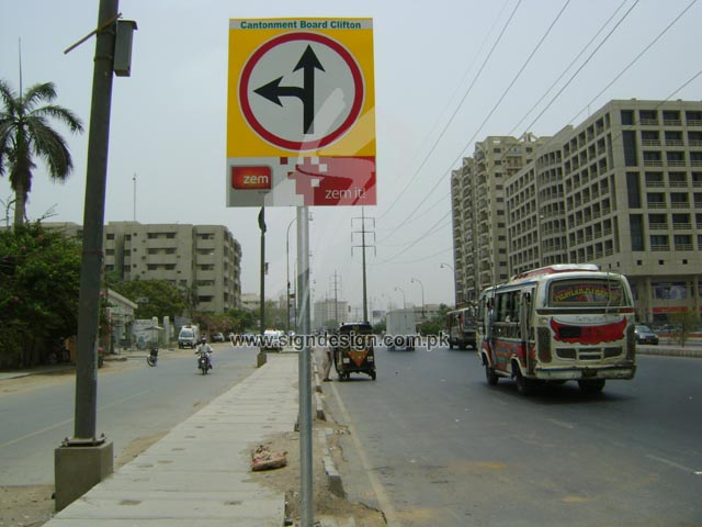 Traffic Signs Clifton Karachi