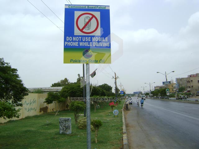 Stop using Mobile Phone Traffic Sign