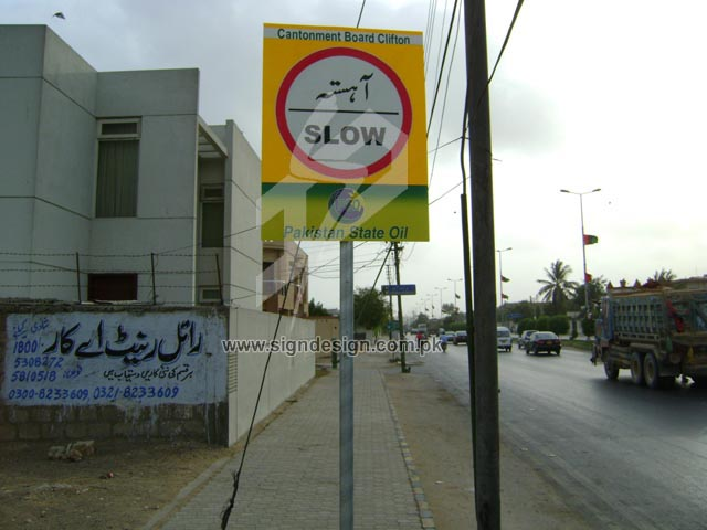 Traffic Sign Indicating to Slow Down