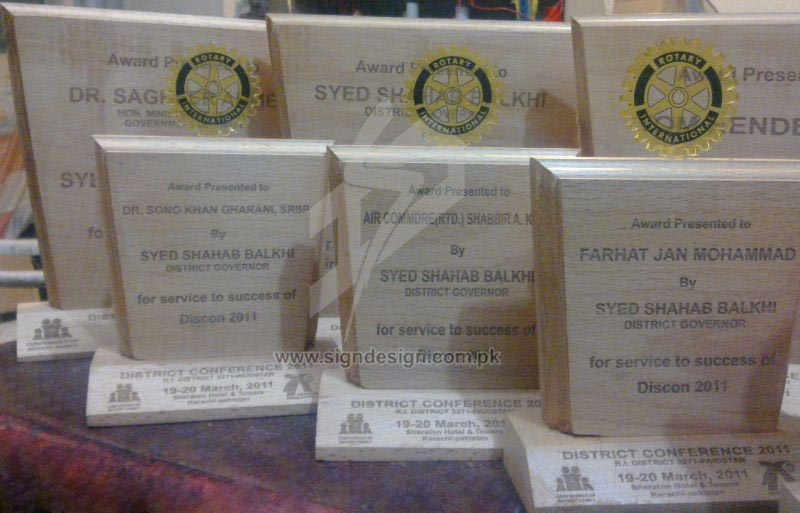 Rotary Club Plaques/Awards