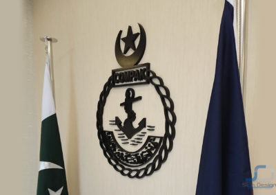 3D Sign of COMPAK for PAKNAVY