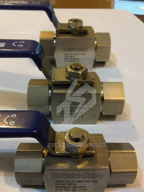 Laser Marking on Valves in Karachi