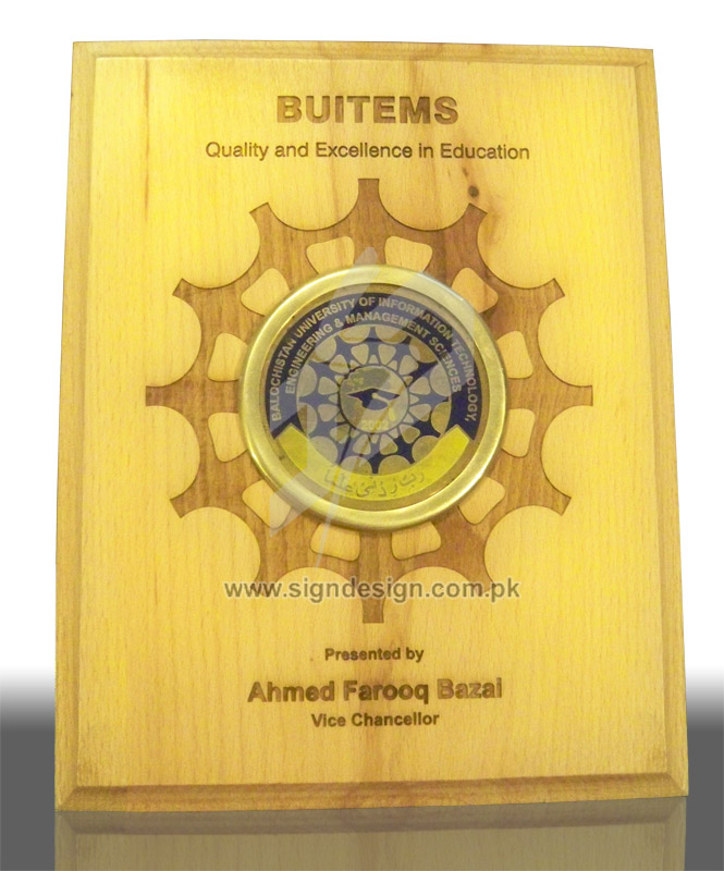 Engraved BUITEMS Plaque