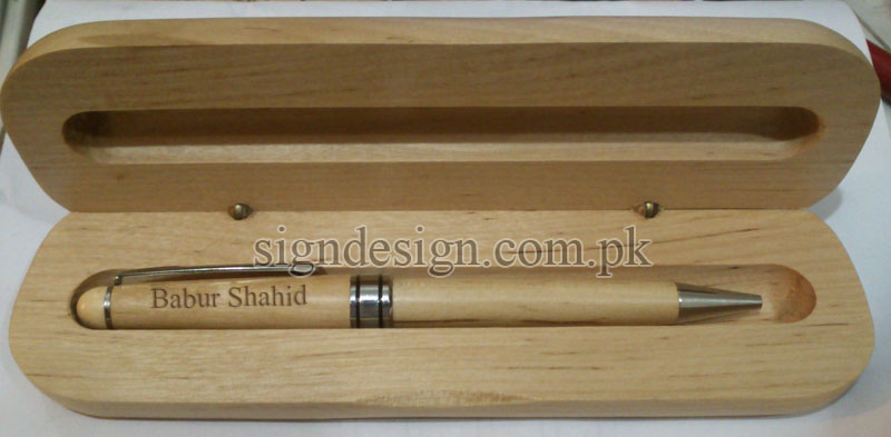 Wooden Pen Engraved
