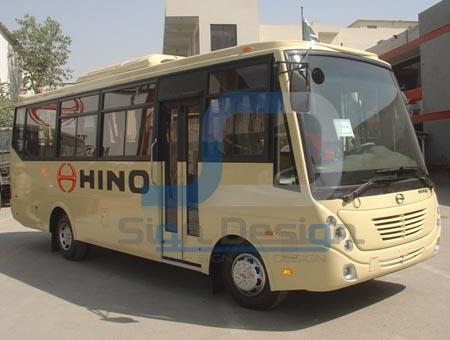 Hino Bus Vinyl Lettering