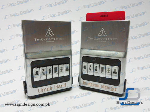 The Gadget Effect Card Holder Laser Marking