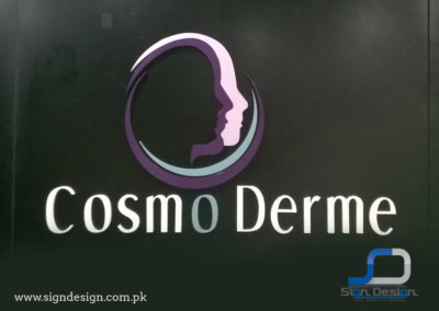 Cosmo Derme 3D Sign