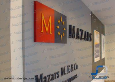 Mazars 3D Signage