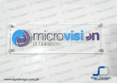 Microvision 3D Sign