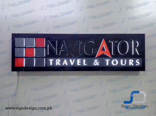 Navigator Travel & Tours 3D Backlit Sign