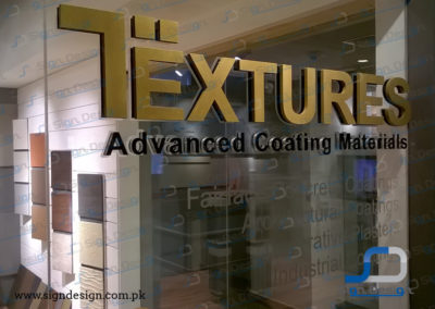 Textures 3D Sign